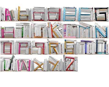 Susunan Buku Membentuk Alfabet