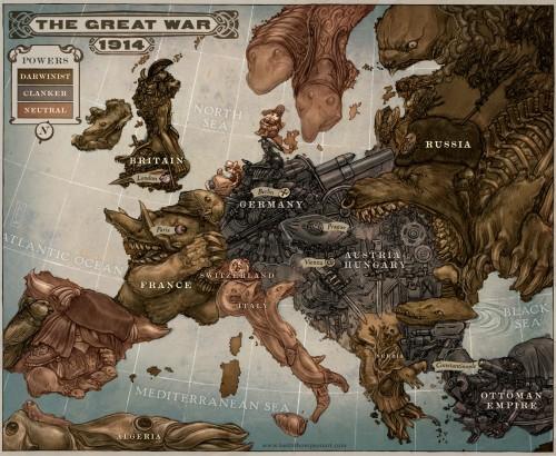 Peta Karikatur Eropa